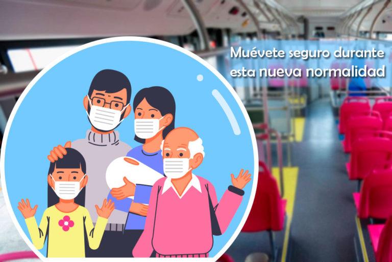 En esta nueva normalidad muévete seguro en el nuevo metrobús eléctrico